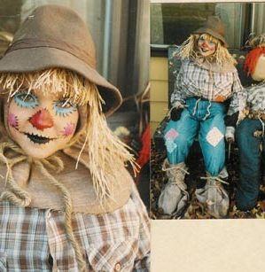 Para hacer un Disfraz de Espantapájaros para Halloween, basta con unos pantalones vaqueros y una camisa, por ejemplo, se le ponen en los puños y en la parte de abajo de los pantalones paja (se puede poner lana gorda que...