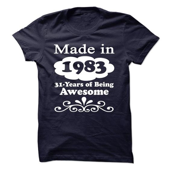 1983 AWESOME TEE T-Shirts, Hoodies. BUY IT NOW ==► https://www.sunfrog.com/Birth-Years/1983-AWESOME-TEE.html?id=41382