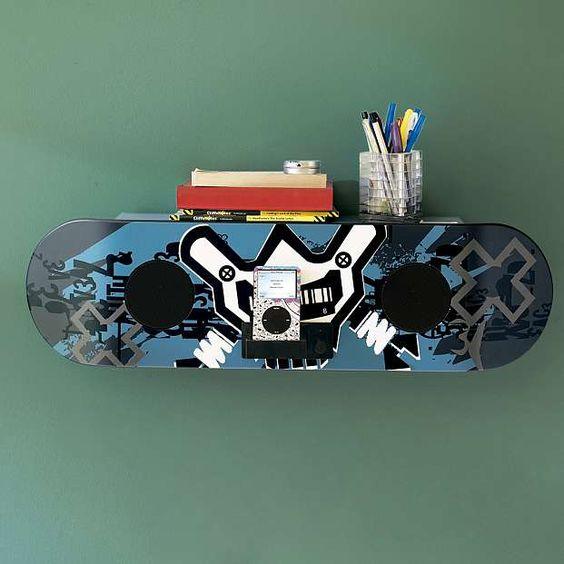 X Games Skateboard Speaker Shelf