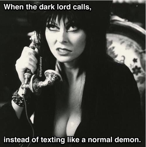 It's only noon, are you trying to wake me up? | Cassandra peterson,  Mistress, Goth memes