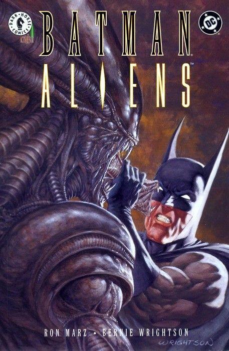 batman vs alien by - photo #12