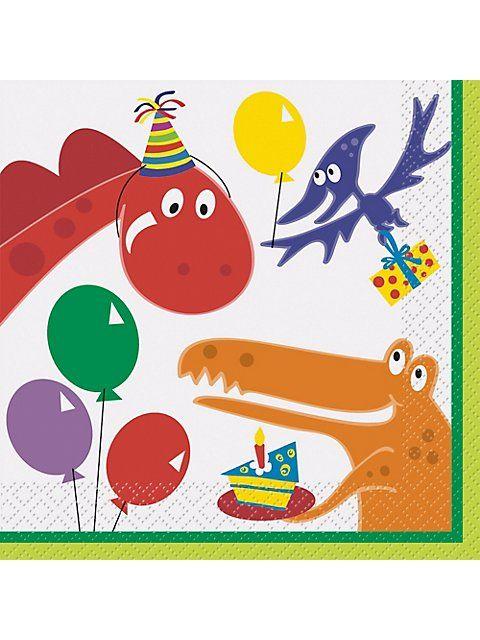 Dinosaur Birthday Luncheon Napkins