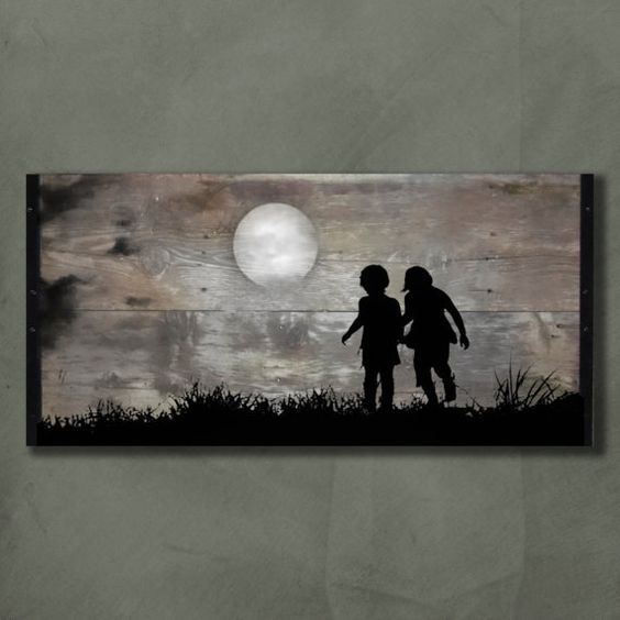 Reclaimed Wood Wall Art  Playing in the by TKreclaimedART on Etsy, $175.00