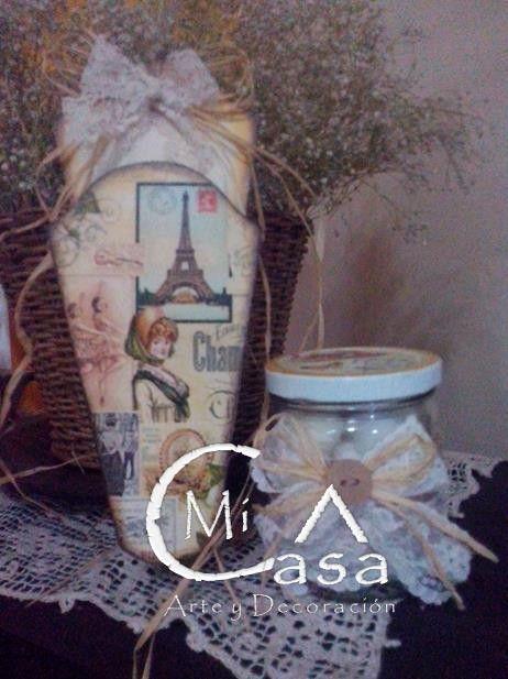 Porta tijeras y algodonera vintage