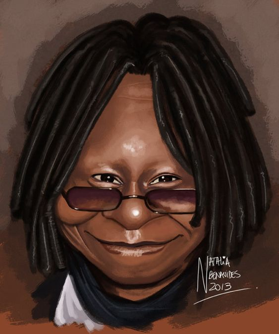 Caricatura Whoopi Goldberg by ~natynarunyo on deviantART