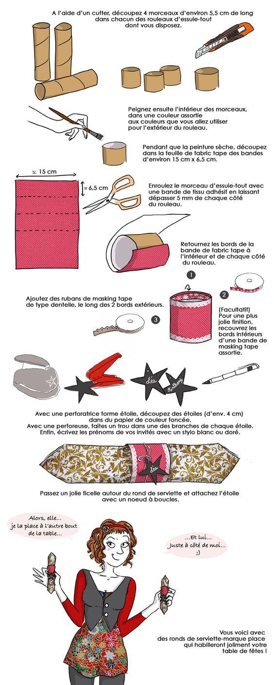 Marca-guardanapos (não me lembro do nome! :p) de rolos de papel de cozinha