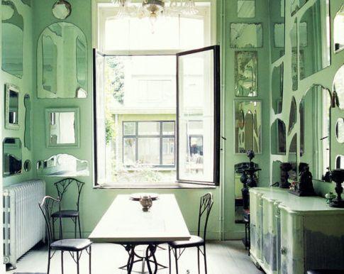 photo dambiance deco verte modle cuisine couleur vert deau - Poubelle De Cuisine Vert Pastel