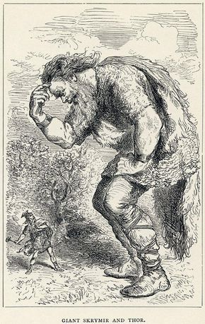 The giants in Norse religion were called Jotun. The Jotun lived in one of the nine realms known as Jotunheim. A menace to both gods and humans, these massive forces of nature were too big in size and numbers to destroy so they were banished to Jotunheim by the Norse gods.
