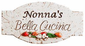 Italian Grandmother Nonna Kitchen Sign - Italian and Tuscan Decor