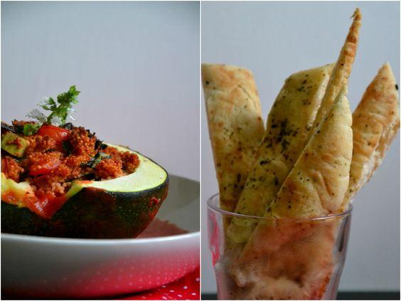 Christina macht was!: Gebackene Zucchini mit orientalischer Hirsefüllung