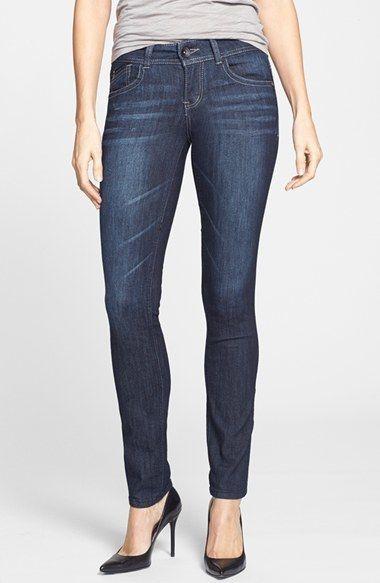 Nordstrom Wit & Wisdom Stretch Skinny Jeans (Dark Exclusive) on shopstyle.com