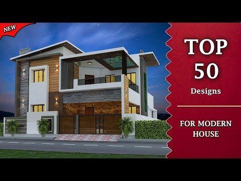 Top 50 Front Elevation Designs For Double Floor House 2 Floor House Elevation Youtube Front Elevation Designs Small House Front Design Modern House Design