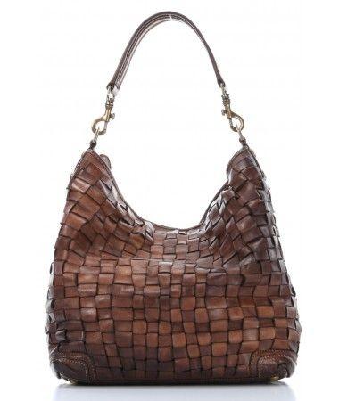 Campomaggi Lavata Hobo Leather cognac 38 cm - C1385VL-1702 - Designer Bags Shop - wardow.com