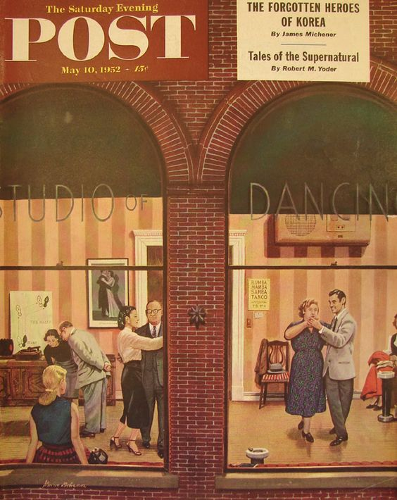Dancing Class. Saturday Evening Post, May 10, 1952 (Stevan Dohanos)