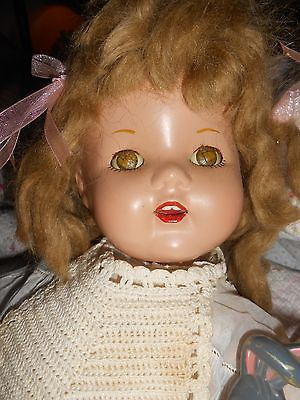 Vintage-Unmarked-Composition-Doll-Precious-Happy-Face-20-Tall