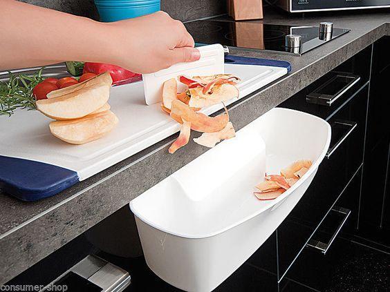 Auffangschale Küchenabfälle Abfallschale Mülleimer Auffangbehälter mit Spachtel in Möbel & Wohnen, Haushalt, Müll- & Abfalleimer | eBay