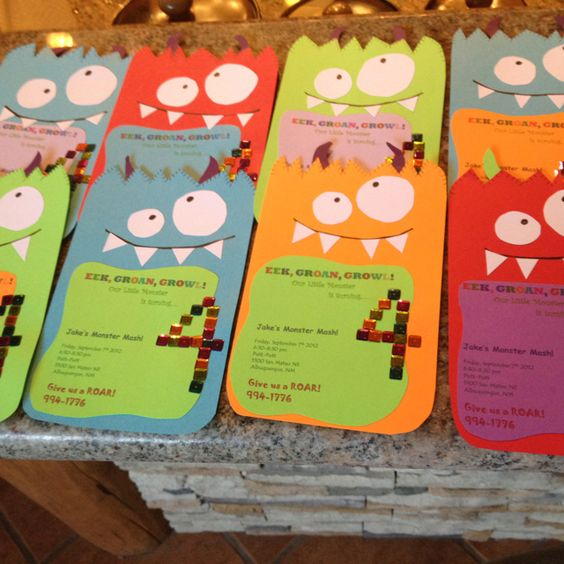 Monster invitations - love these if I have the time, may have to enlist