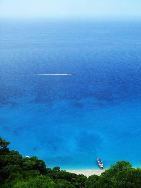 Egremni Beach, Lefkada, Grecia