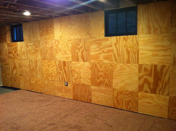 guns squares accent walls insulation cement walls to the basements