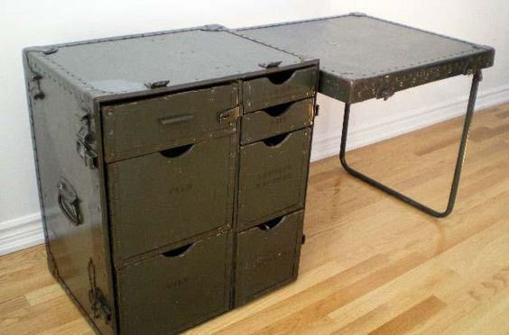 Vintage portable army field desk | Furnishings | Pinterest ...