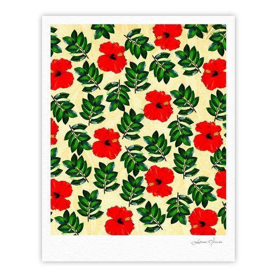 "Sreetama Ray ""No More Peonies"" Red Green Fine Art Gallery Print"