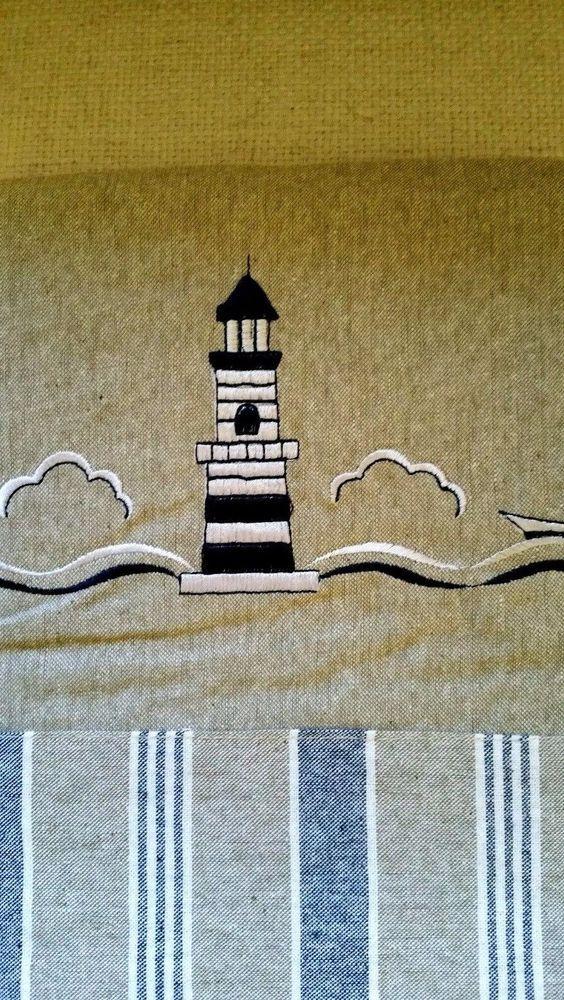 Lighthouse Valance Richloom Home Barnegat Light Embroidered NEW #RichloomHomeFashions