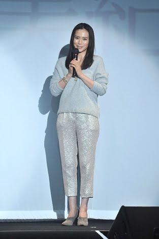 中谷美紀舞台挨拶で美しい姿の画像