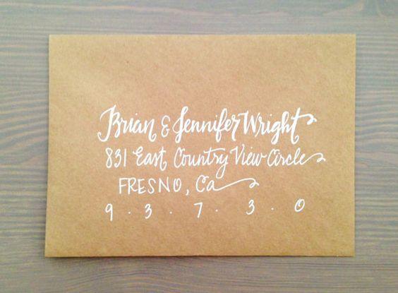 Wedding invitation Calligraphy Handmade Envelope Addressing via – Wedding Invite Calligraphy