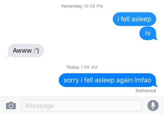 texting me is really like