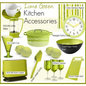 Accessories green kitchen and lime green kitchen on pinterest for Lime green kitchenware