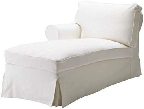 Amazon Com The White Ektorp Chaise With Arm Thick Cotton Cover Replacement Is Custom Made For Ikea Ektorp Cha In 2020 Slipcovered Sofa Ikea Ektorp White Chaise Lounge