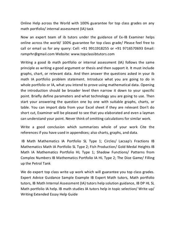 ib-math-portfolio-fish-production-sl-type-2-math-ia-help-tutors - extended essay example