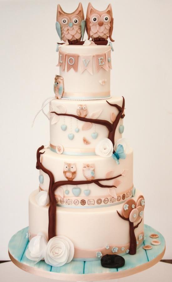 Vegan Owl Wedding Cake By Samantha 39 S Cake Design Http
