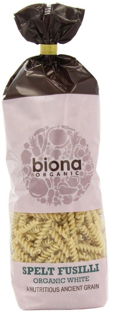 Biona Organic White Spelt Fusilli Pasta 500 g (Pack of 10)