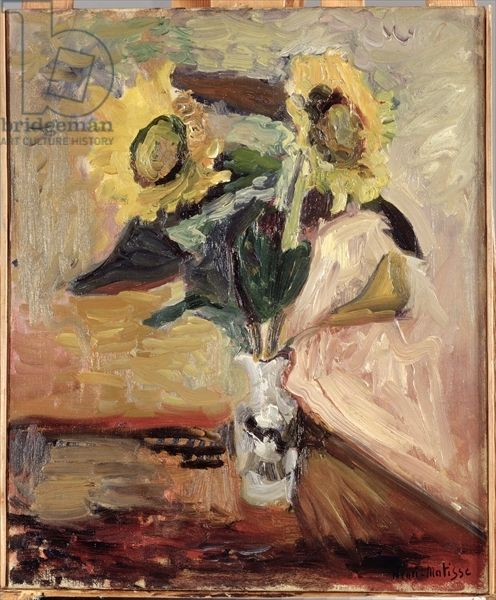 Matisse, Henri (1869-1954) Sunflowers in a Vase, 1902 (oil on canvas)