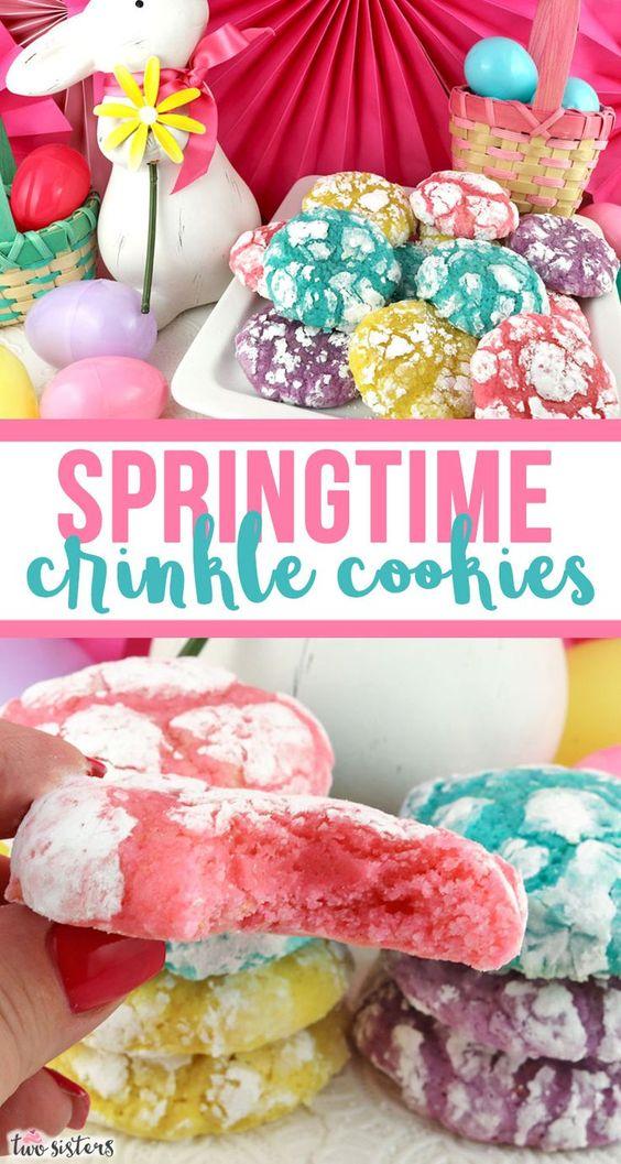 Springtime Crinkle Cookies