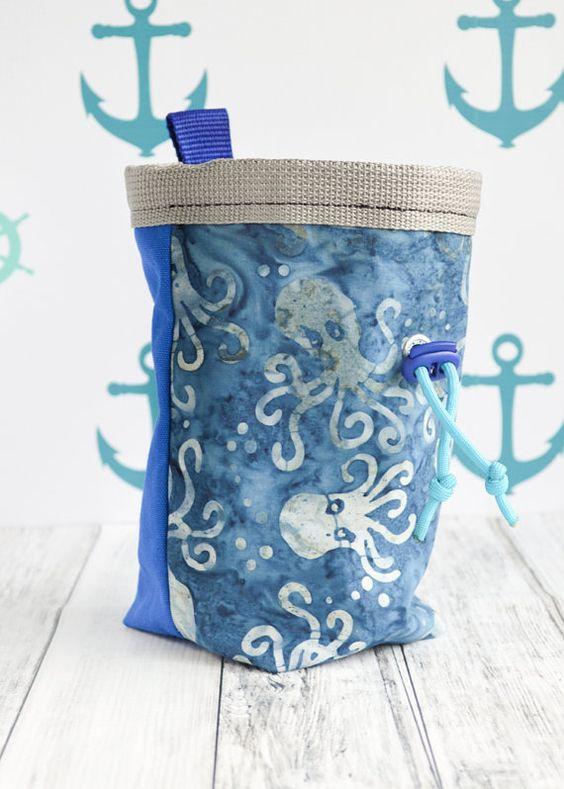 Kraken Octopus Rock Climbing Chalk Bag  by StalkingTheWildSnark