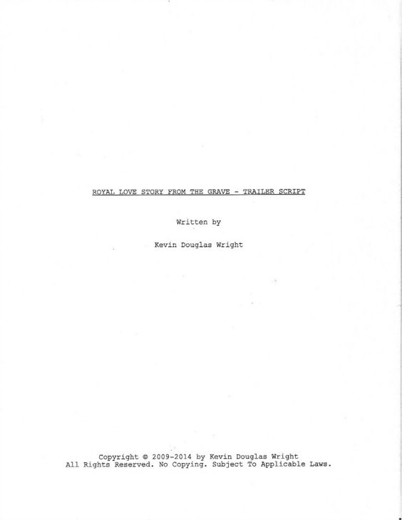 Here Is A Real Life Example Of A Title Page From The Screenplay