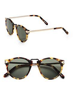 Karen Walker - Helter Skelter Round Sunglasses/Crazy Tortoise