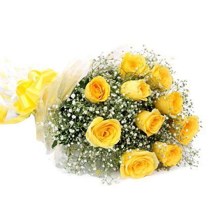 Happy birthday yellow roses images