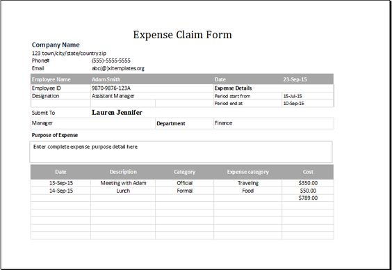 expense claim form DOWNLOAD at http\/\/wwwbizworksheets - microsoft expense report