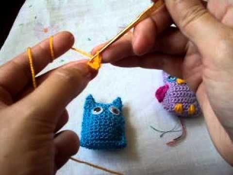 Tutorial : Cómo hacer un buho a crochet (llavero) ✿⊱╮Teresa Restegui http://www.pinterest.com/teretegui/✿⊱╮