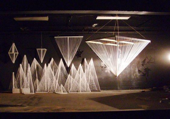 String Lights Installation : String Art by Jordan Greene, via Behance scenography Pinterest String lights, Installation ...