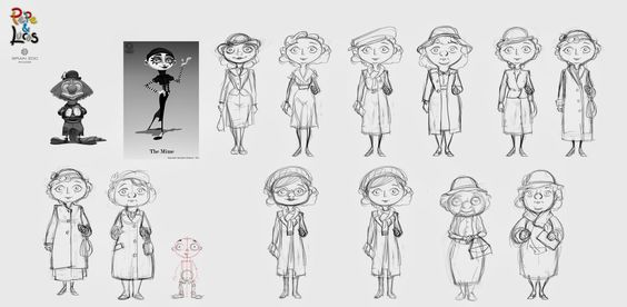 character stylized proportions sketches - Google Search