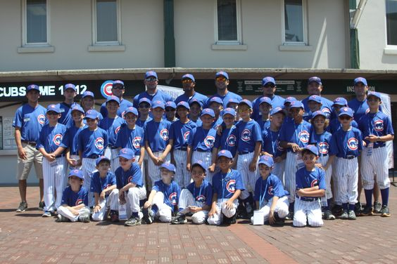 The Chicago Cubs Summer Camps offer children ages 5-13 -- of all abilities -- the ultimate Major League Experience for seven one-week sessions in six convenient locations around the Chicago area. Join fellow teammates for a week of top-notch baseball instruction combined with unforgettable moments such as meeting a current Cubs player and taking a tour of Wrigley Field in a full Cubs uniform.