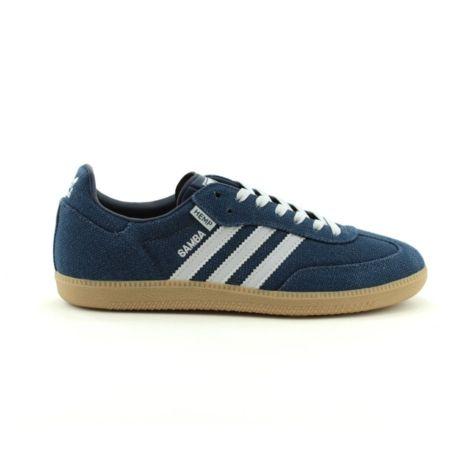 mens adidas blue samba trainers
