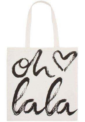 Lala-Berlin - Lala Berlin Cotton Bag Oh Lala