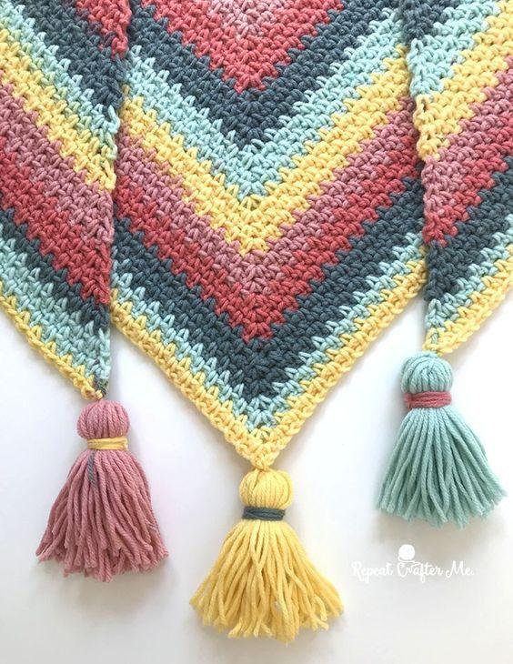 Aprende A Hacer Borlas Para Tus Labores Otakulandia Es Linen Stitch Crochet Linen Stitch Moss Stitch