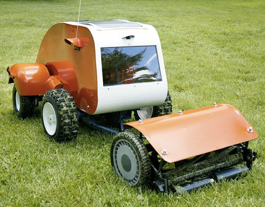 Husqvarna+7021+RC+Lawn+Mower | Primate's Progress, solar lawn mower, sustainable design, green design ...