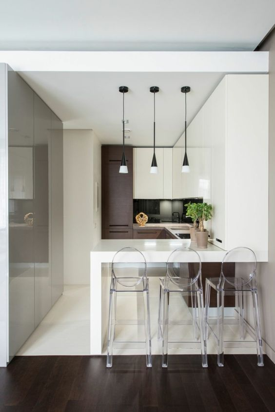 Luxus Apartment - minimalistisches Interieur mit Schwung  - #Wohnideen